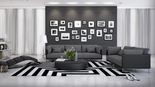 Couchgarnitur Farggi Schwarz mit Tisch B- Ware