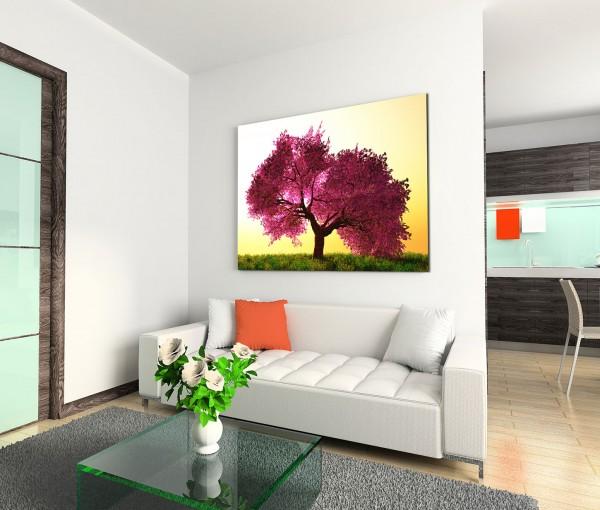 120x80cm Wandbild Japan Kirschbaum Blüten