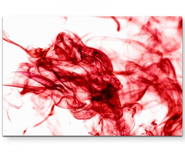 Roter Rauch vor weißem Hintergrund - Leinwandbild