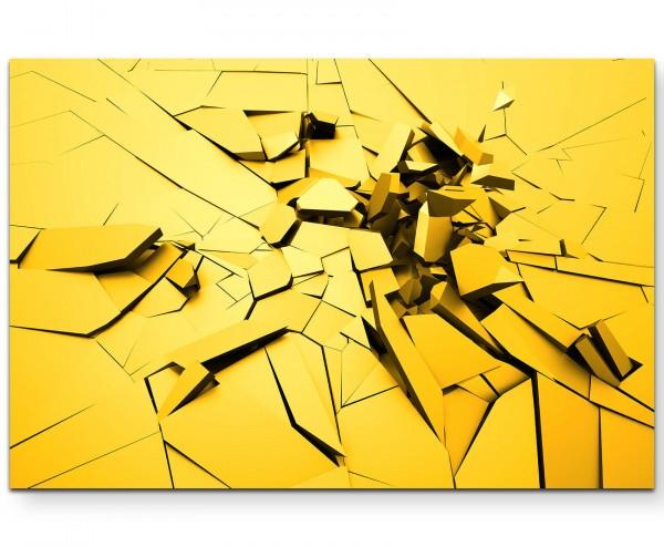 Abstrakt – Risse im Boden - Leinwandbild