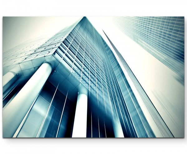 Wolkenkratzer mit Säulen - Leinwandbild
