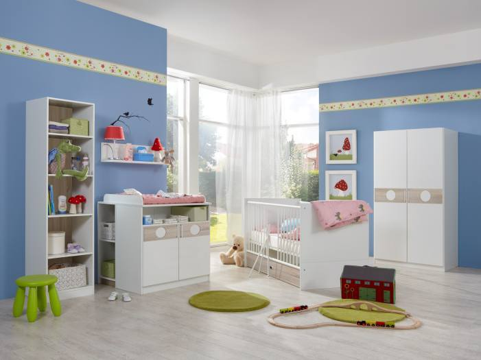 babyzimmer kimba 6tlg mit 2trg schrank m bel. Black Bedroom Furniture Sets. Home Design Ideas
