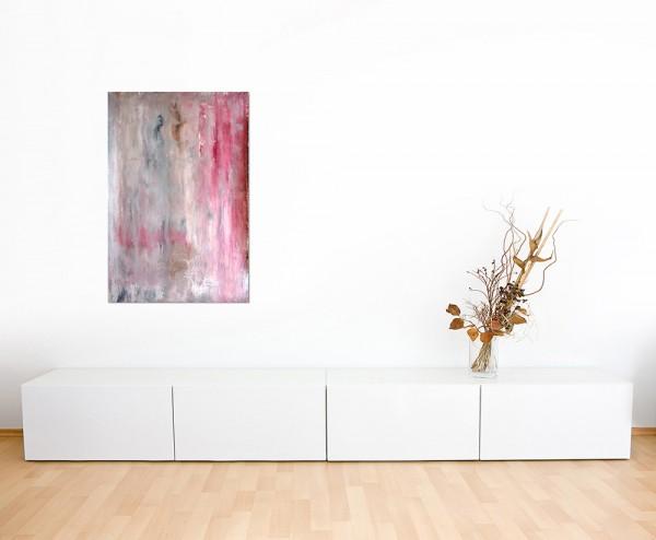 120x80cm Malerei Kunstwerk abstrakt rot/beige