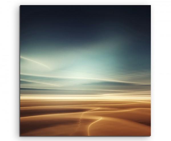 Illustration – Surreale Marslandschaft mit Himmel auf Leinwand