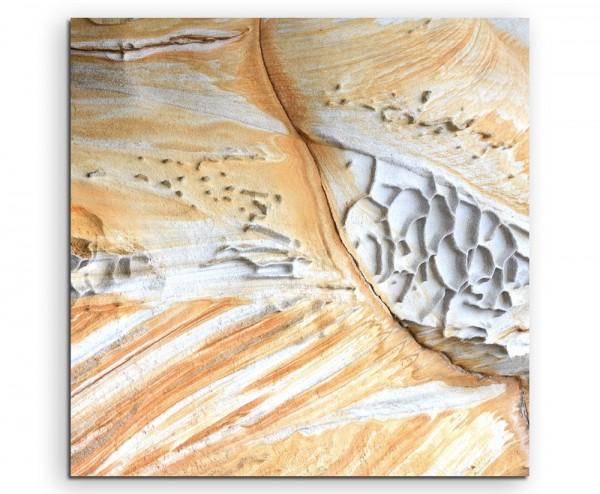 Naturfotografie – Gemusterter Sandstein aus Australien auf Leinwand