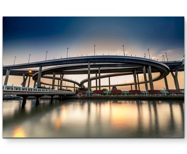 Bhumibol Brücke – Thailand - Leinwandbild