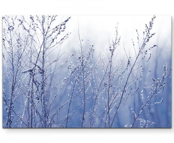 Äste im Frost - Leinwandbild