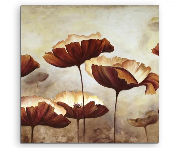 Sepia Gemälde von Klatschmohn auf Leinwand