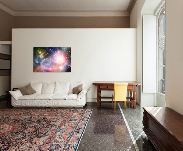 120x80cm Sterne Planet Galaxie Weltall