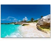 Landschaftsfotografie – Tropischer Strand in Mexiko - Leinwandbild