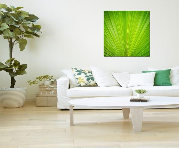 80x80cm Palmblatt grün