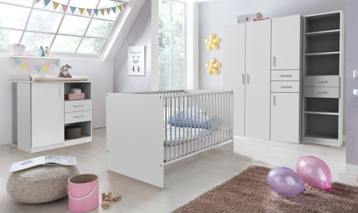 Babyzimmer Nicki Weiß