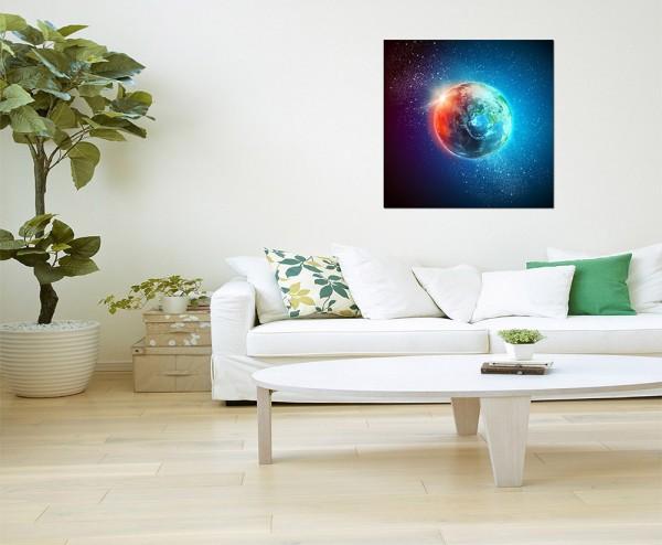 80x80cm Planet Erde Weltall