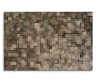 120x80cm Wandbild Hintergrund abstrakt Pixel grau braun