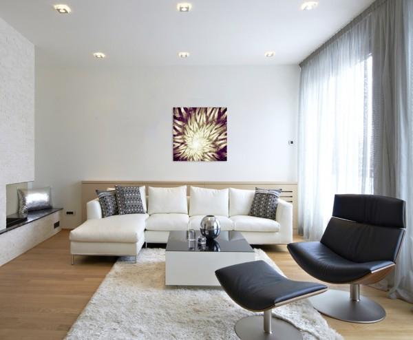 abstrakt modern chic chic dekorativ schön deko schön deko e blumen in Goldtönen auf Leinwand