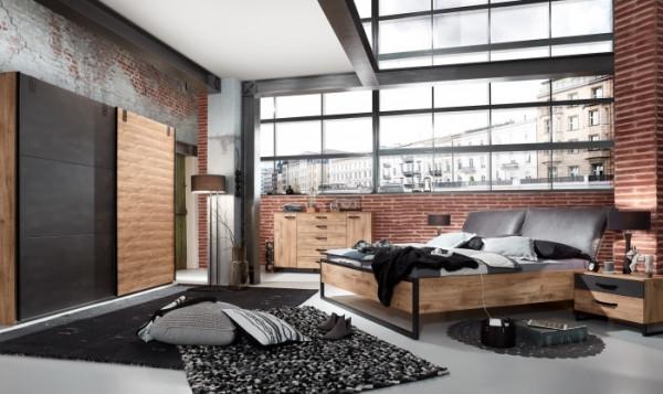 Schlafzimmer Detroit 5 teilig Superset mit Schwebetürenschrank