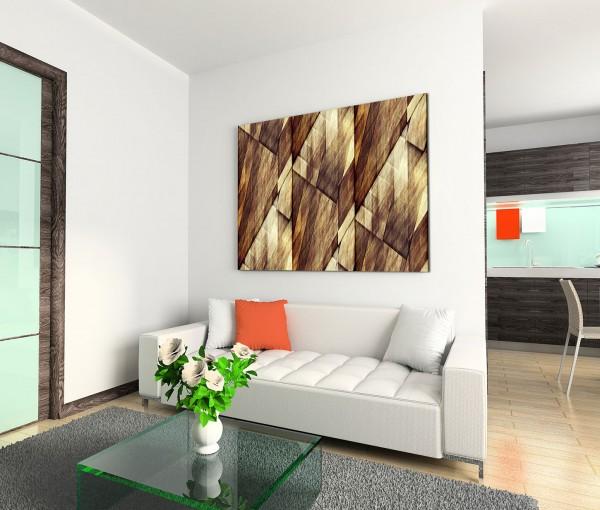 120x80cm Wandbild Hintergrund Geometrie abstrakt braun beige