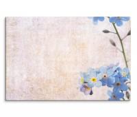 120x80cm Wandbild Blume Blüten blau