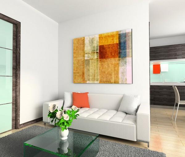 120x80cm Wandbild Hintergrund Malerei rot blau orange grün