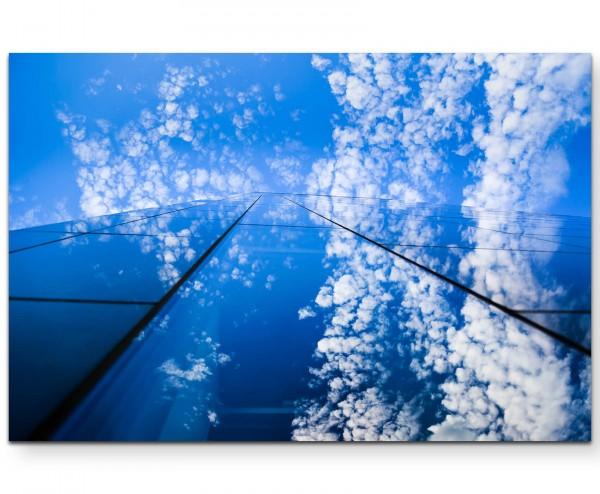 Abstrakt – Himmel und Wolkenkratzer - Leinwandbild