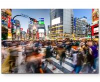 Menschen in Tokyo – Kreuzung - Leinwandbild