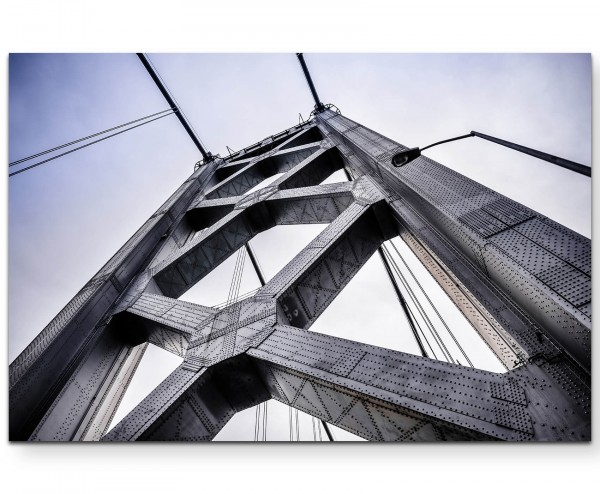 Detailaufnahme San-Francisco-Oakland-Bridge - Leinwandbild