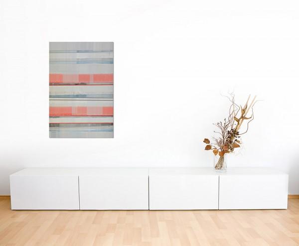 120x80cm Farben Kunstwerk abstrakt rot/grau