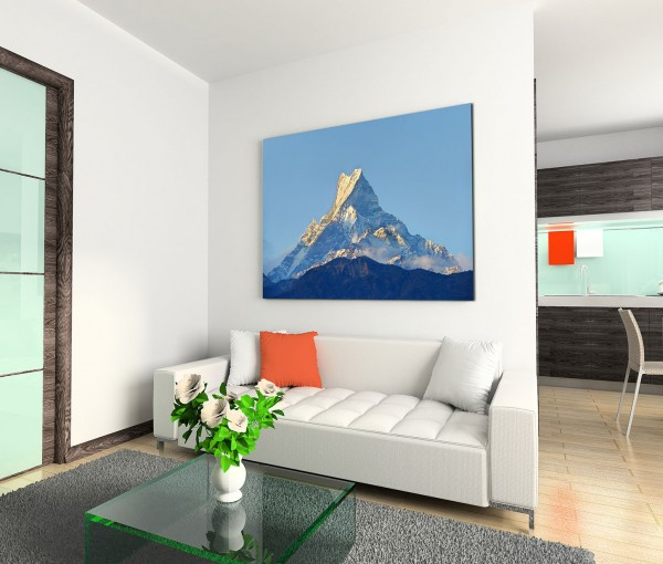 120x80cm Wandbild Nepal Himalaya Berggipfel Schnee Sonnenaufgang