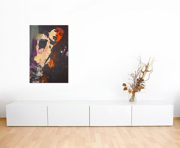 120x60cm Frau Portrait Ölmalerei Tanz