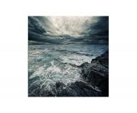 80x80cm Meer Ozean Sturm Unwetter Wellen Wolken