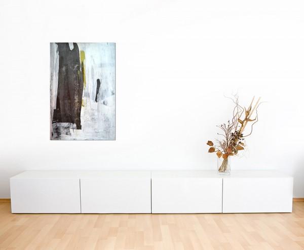 120x80cm Malerei Kunst abstrakt schwarz/weiß