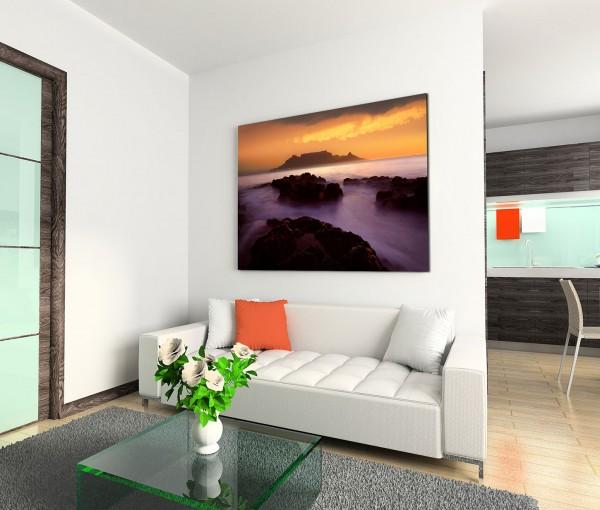 120x80cm Wandbild Südafrika Kapstadt Berge Wolken