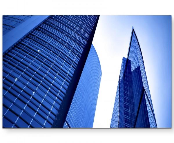 Fotografie - hohes Bürogebäude - Leinwandbild
