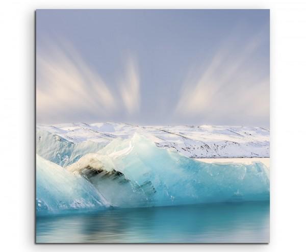 Landschaftsfotografie – Jokulsarlon Gletscher, Island auf Leinwand