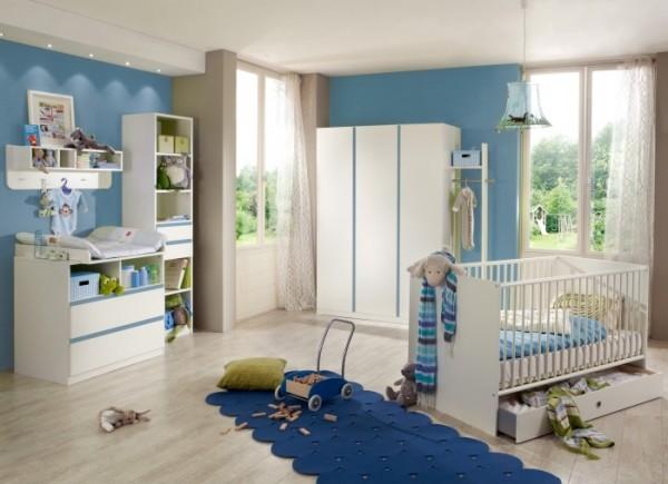 Babyzimmer Babyzimmer Bibi 7-teilig Weiß- Denim Blau