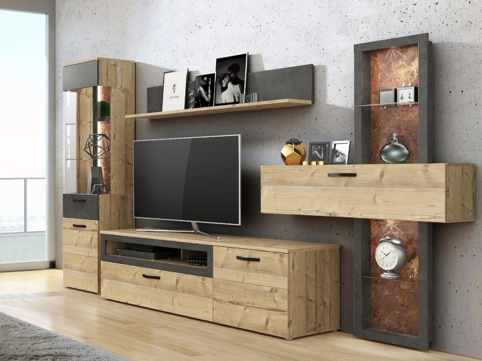 wohnwand kalomira 4teilig m bel. Black Bedroom Furniture Sets. Home Design Ideas