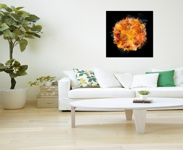 80x80cm Feuer Ball Kugel Rauch