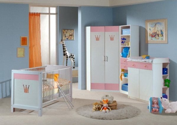 babyzimmer cinderella 6 teilig m bel. Black Bedroom Furniture Sets. Home Design Ideas