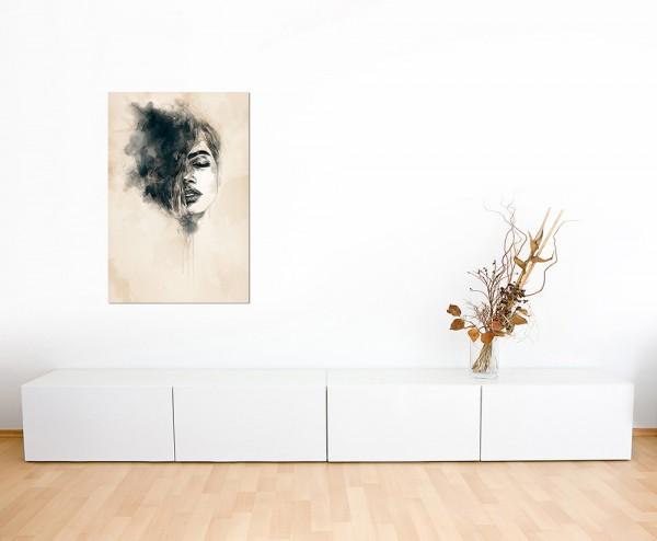 120x60cm Handmalerei Frau Gesicht abstrakt