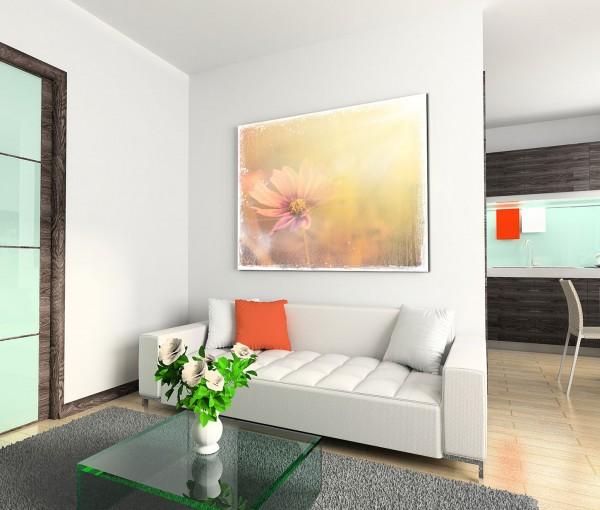 120x80cm Wandbild Blume Blüte vintage