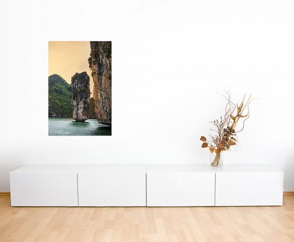 120x60cm Halong Bay Vietnam Felsen Wasser