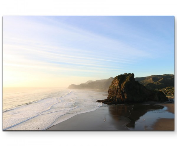 Felsen am Strand – Fotografie - Leinwandbild
