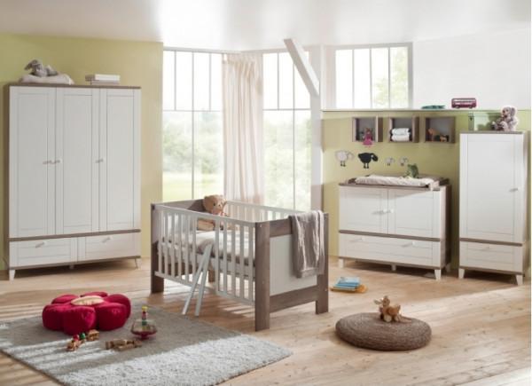 Babyzimmer Bella 6-teilig Wildeiche Trüffel