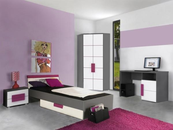 Jugendzimmer Libelle 5tlg. mit Eckkleiderschrank