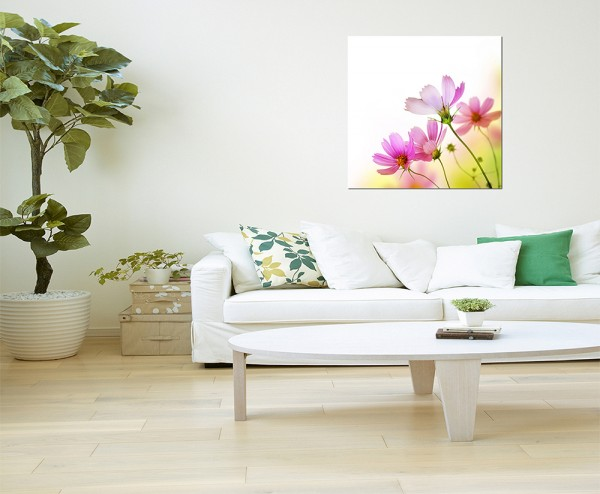 80x80cm Blume Blüte Hintergrund abstrakt