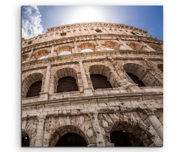 Architekturfotografie – Colosseum in Rom, Italien auf Leinwand