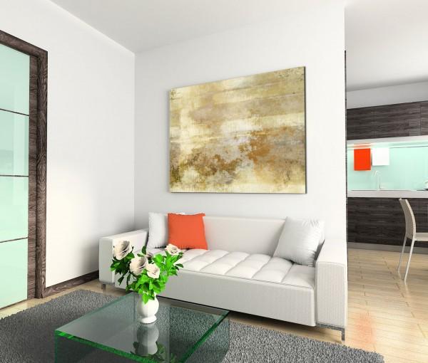 120x80cm Wandbild Malerei Acryl Hintergrund abstrakt beige braun