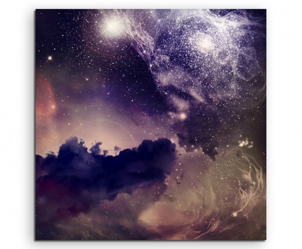 Galaxie mit kosmischem Staub auf Leinwand