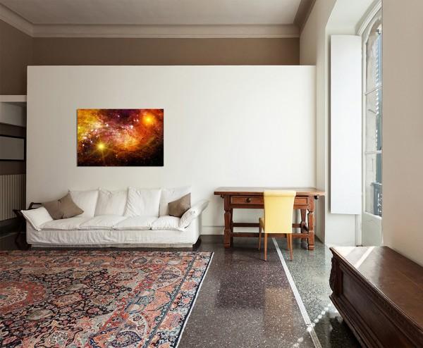 120x80cm Sterne Galaxie Weltall