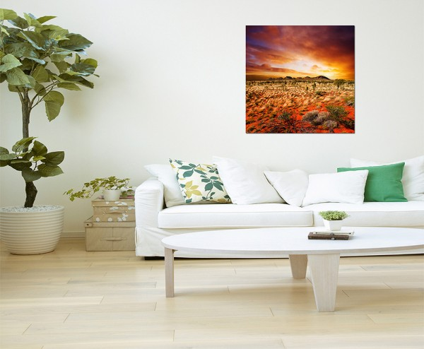 80x80cm Australien Landschaft Sonnenuntergang